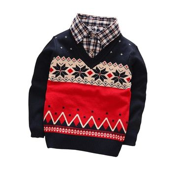 BibiCola Fashion Baby Boys Autumn Winter Thin Sweater Clothes Baby Boys  Cardigan Sweater Coat Children's Sweater