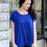 Touch of Lace Tee {Cobalt}