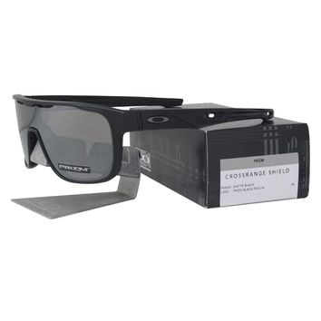 Oakley OO 9387-0231 CROSSRANGE SHIELD Matte Black Prizm Black Iridium Sunglasses