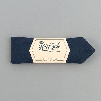 Linen / Cotton Oxford Bow Tie, Navy