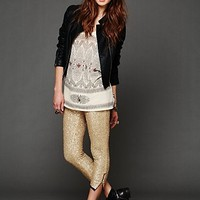 Free People Sequin Cropped Pant