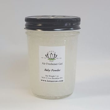 Baby Powder Scented Gel Air Freshener Jar - Flameless Aroma