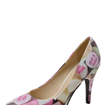 Candy Hearts Pointed Heel
