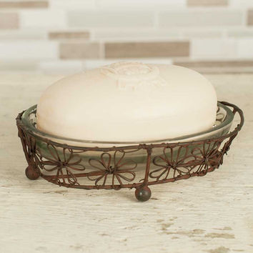 Flower Oval Soap Dish