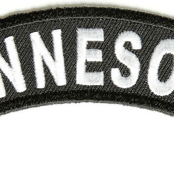 Minnesota Rocker Patch Small Embroidered Motorcycle NEW Biker Vest Patch