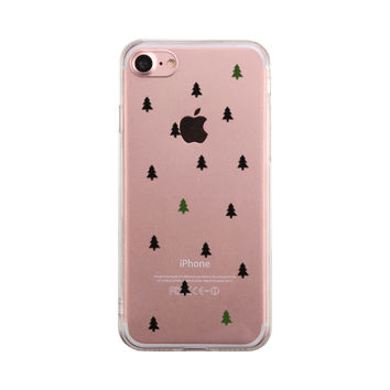 Christmas Tree Pattern Phone Case Cute Clear Phonecase