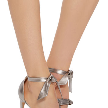 Gianna Metallic Leather Sandals | Moda Operandi