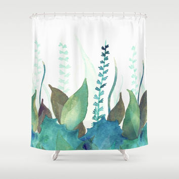 Botanical vibes 04 Shower Curtain by vivigonzalezart