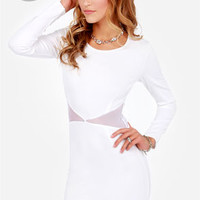 LULUS Exclusive Cute Be Told White Dress