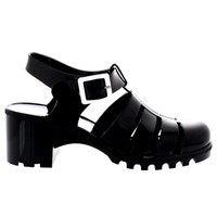 Womens Gladiator Festival Jelly Sandals Buckle Holiday Mid Heel Shoes