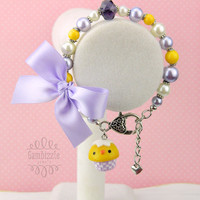 easter baby chick cupcake bracelet, easter bracelet, easter charms, girls easter jewelry