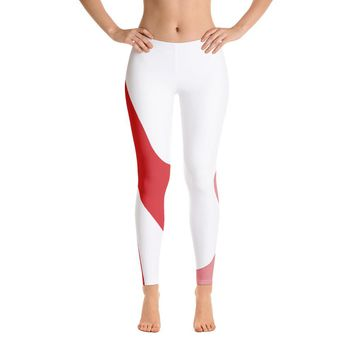 Red and White Leggings