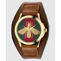 GUCCI bee or tiger icon, fashion, hot sale watch L-PS-XSDZBSH Brown(bee)