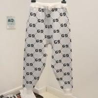 GUCCI new autumn and winter fashion loose thick g letter pants harem pants White