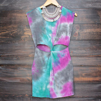 to dye for cut out t shirt tank dress - tie dye
