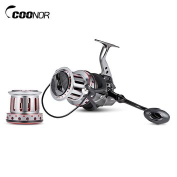 COONOR AFL10000 + 9000 Fishing Reel 11 + 1BB Big Metal Fishing Spinning Reel with Double Wire Cup 4.7:1 Ball Bearing Coil Wheel
