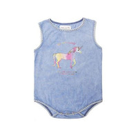 Unicorn Washed Jean Onepiece