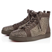 Best Online Sale Christian Louboutin Cl Louis Strass Men's Flat Roche Strass 09w Shoes 3170036c245