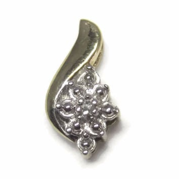 Tiny Vintage 10K Diamond Pendant
