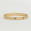 Worn Gold Bangle - Emerald