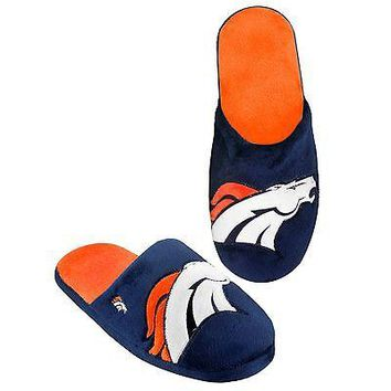 Broncos Big Logo SLIDE SLIPPERS New -  SHIP - Denver Broncos