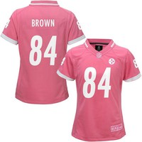 Girls Youth Pittsburgh Steelers Antonio Brown Pink Bubble Gum Jersey