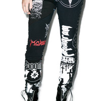 Hazmat Design Heavy Metal Leggings Black Small/Medium