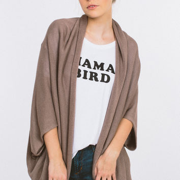 Thrown For A Loop Cardigan - Taupe