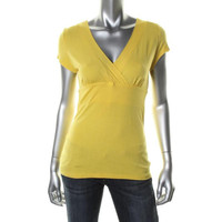 INC Womens Petites Knit Criss-Cross Front Casual Top