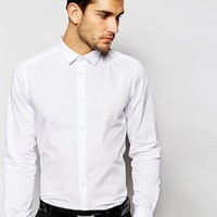 ASOS Smart Shirt In Long Sleeve With Double Cuff