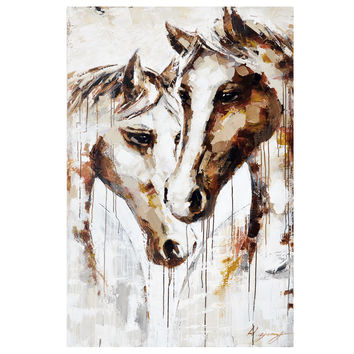 Two Manes Hand Painted Canvas 1500mm x 1000mm