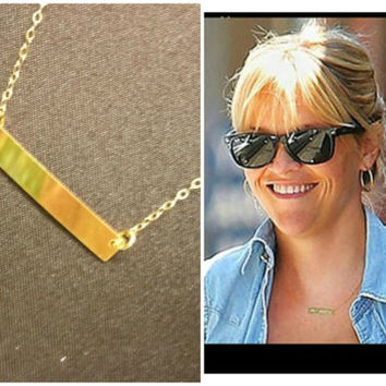 Gold Name plate necklace, Personalised Name plate necklace, customised name plate necklace, Initial Necklace, Custom  name plate necklace