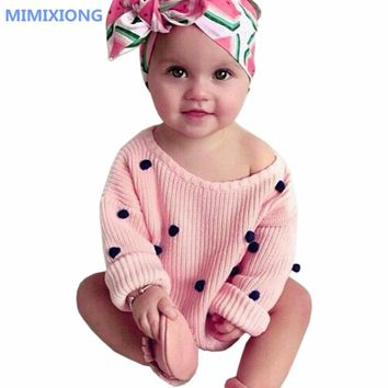 Cute Baby Crochet Sweaters For Girls O Neck Long Sleeves Toddler Infant Knitted Pullovers Tops Newborn Baby Knitted Clothes