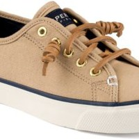 Sperry Top-Sider Seacoast Canvas Sneaker SandBurnishedCanvas, Size 12M  Women's Shoes