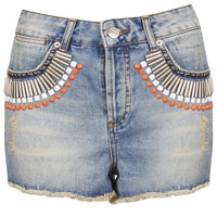 MOTO Embellished Denim Hotpants - New In This Week - New In - Topshop