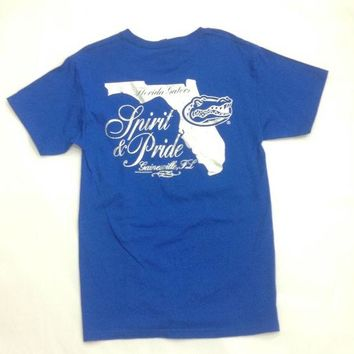 ONETOW NCAA Florida Gators Silver State Distress Spirit T-Shirt