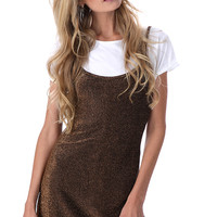 VG GOLDEN GALAXIES GLITTER DRESS
