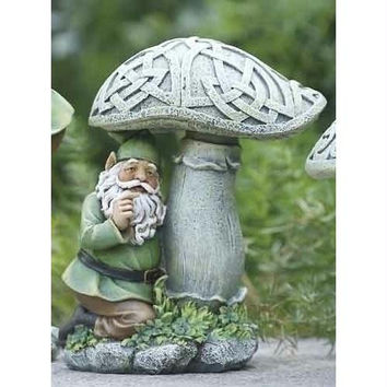 Garden Statue - Mushroom With Celtic Pattern