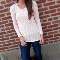 Baby Peach Knit Cut-Out