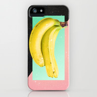 Eat Banana iPhone & iPod Case by Danny Ivan