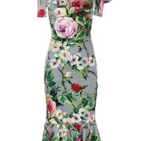 Dolce & Gabbana Floral Print Dress - Browns - Farfetch.com