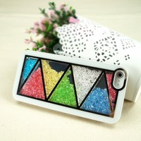 Zigzag Dancing Rhinestone Glitter Bling Bling Diamond Case for iPhone 5