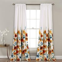 Field of Poppies Room Darkening Window Curtains