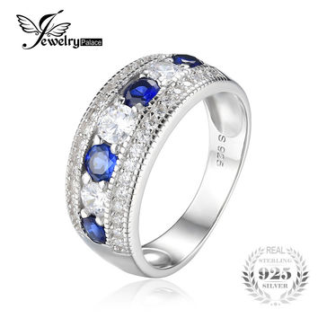JewelryPalace Luxury 1.54ct Round Created Blue Sapphire Cocktail c26f941ba
