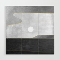 Minimal Landscape 06 Wood Wall Art by marcogonzalez