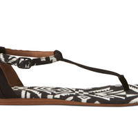 Black Woven Women's Playa Sandals US 9