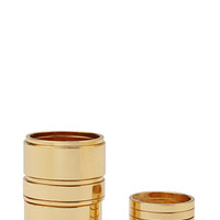 FOREVER 21 Plated Stackable Ring Set Gold