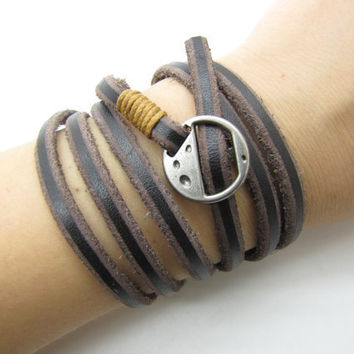 fashion Adjustable Brown Leather Woven Bracelets mens bracelet cool bracelet jewelry bracelet bangle bracelet  cuff bracelet 1088S