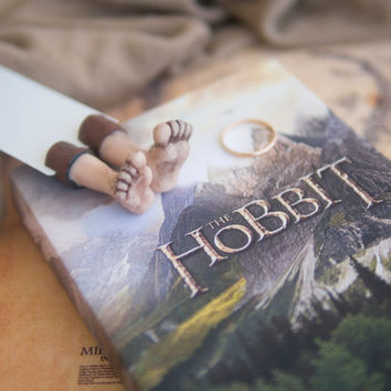"Hobbit bookmark. Children gift, inspired by ""Lord of the rings"". Hilarious present for bookworm."