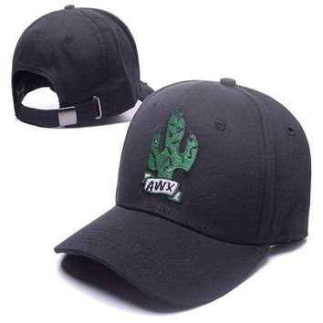 2017 Brand AWX New Cactus Embroidered Baseball Cap Black 6 Panel Fishing Dad Hat Travis Scotts Rodeo Cap Black Snapback Cap